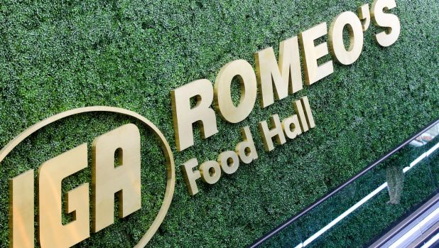 Romeo's IGA food hall opened on Monday after a $165 million refurbishment of the retail precinct at the MLC Centre in Sydney.
