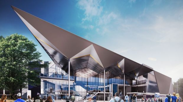 Revamp: An artist's impression of how Geelong's Simonds Stadium will look after the stage four redevelopment.