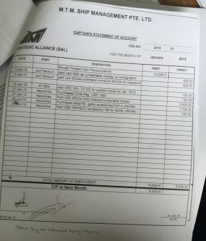 One of the documents forwarded to the AFP for investigation.