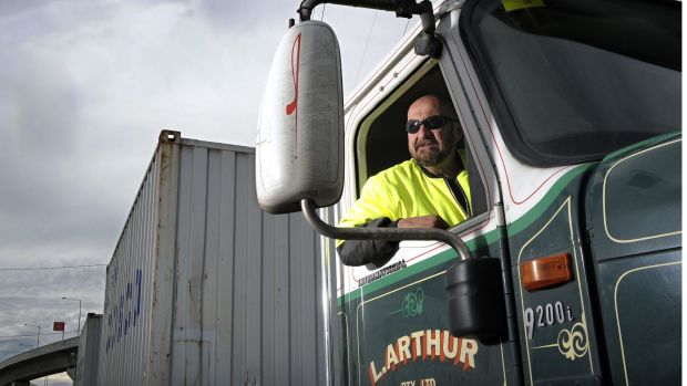 The Port of Melbourne relies on trucks to transport goods.
