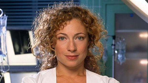 Alex Kingston plays the Doctor's wife, River Song, in the Doctor Who Christmas Special.