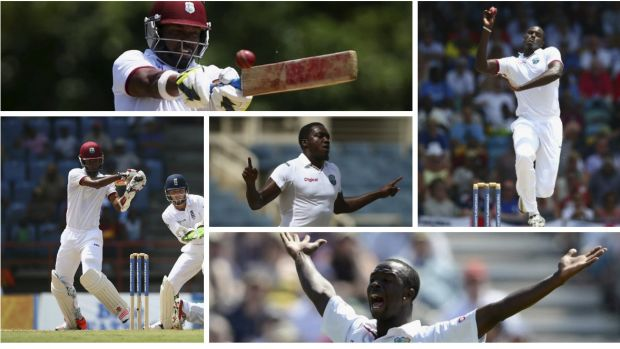 Windies to watch out for: (Clockwise from top left) Darren Bravo, Jason Holder, Kemar Roach, Kraigg Braithwaite and ...