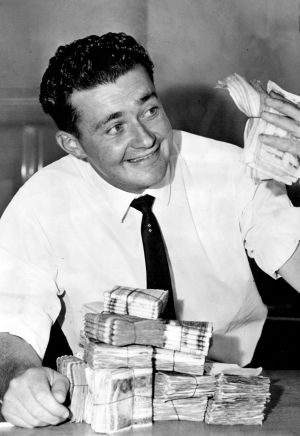 Bank-teller Kerry Corcoran won $100,000 in the Opera House Lottery in 1962. He said he was  going to buy a high-powered ...