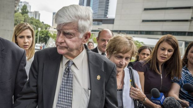Geoff and Priscilla Dickie, father and mother of Alison Baden-Clay, leave Brisbane Supreme Court after Gerard ...
