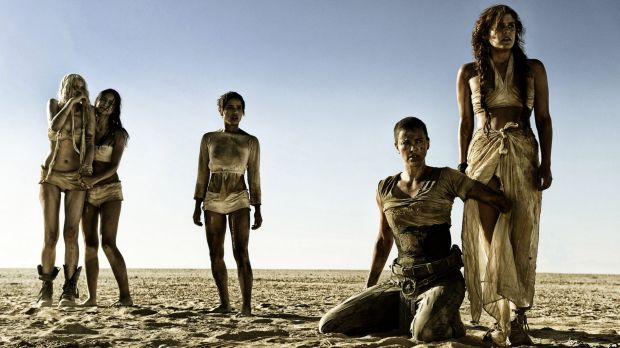 Charlize Theron, second from right, in <i>Mad Max: Fury Road.</i>