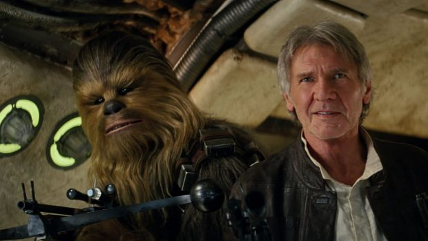 Chewbacca (Peter Mayhew) and Han Solo (Harrison Ford) in Star Wars: The Force Awakens, which Greens deputy leader ...
