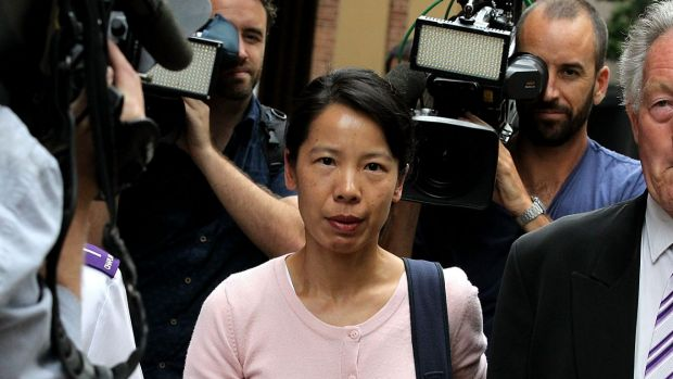 Kathy Lin leaves the Robert Xie bail hearing on Tuesday.
