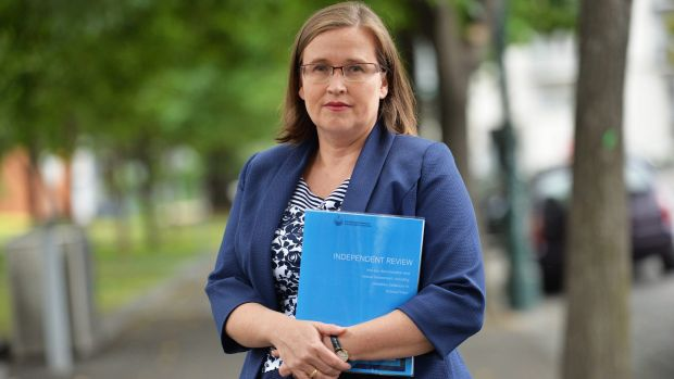 Victorian Equal Opportunity and Human Rights Commissioner Kate Jenkins in 2015 with a copy of the review of sexual ...
