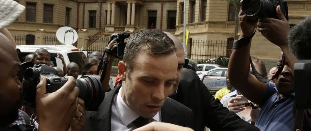 Oscar Pistorius arrives at the North Gauteng High Court in Pretoria, South Africa, on December 8, 2015.