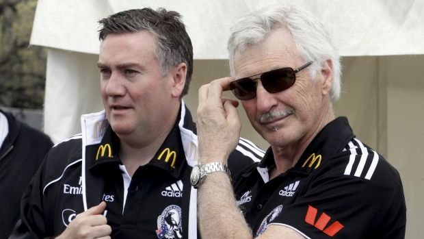 Rift 'repaired somewhat': Eddie McGuire and Mick Malthouse.
