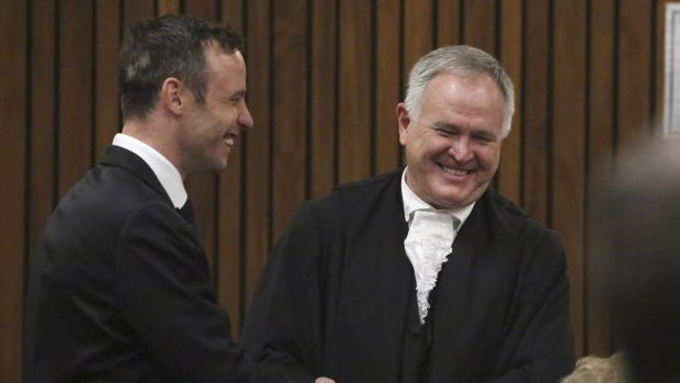 Oscar Pistorius, here with his lawyer Barry Roux, is set to be released on bail.