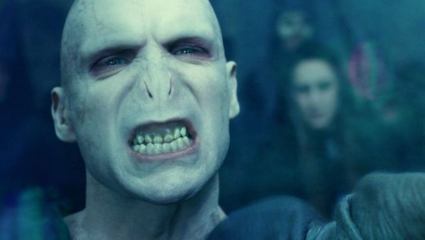 Harry Potter's nemesis Lord Voldemort, played by Ralph Fiennes in the film franchise.
