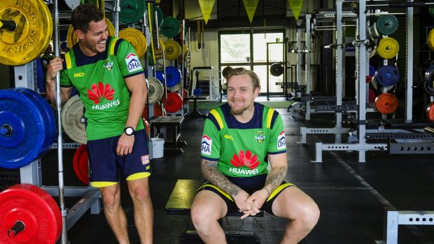 Canberra Raiders recruit Aidan Sezer and Blake Austin are going through the rehabilitation process together.
