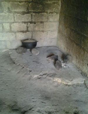 Cooking facilities in the safe house.