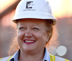Gina Rinehart wants to see more women behind the wheel at her mines.
