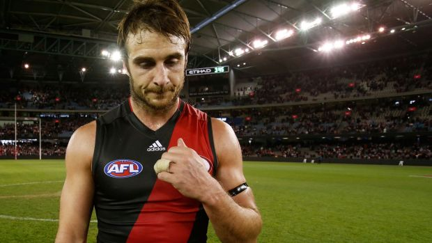 Feeling the heat: Jobe Watson has endured more pressure than others throughout the  saga.