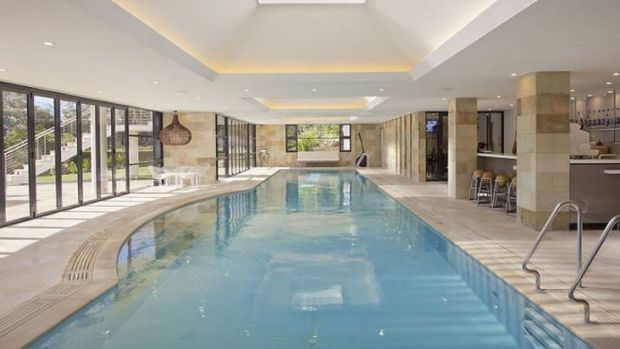 Jin Yang's $9 million home features a 23-metre indoor pool.