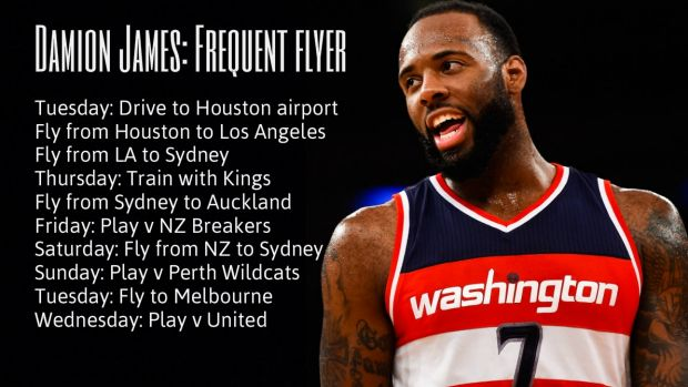 A real globe trotter: Damion James.