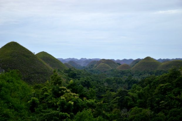 A mountainous view in the Philippines.