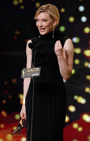 Cate Blanchett receives the Longford Lyell Award during the 5th AACTA Awards in Sydney. Blanchett has been nominated for ...