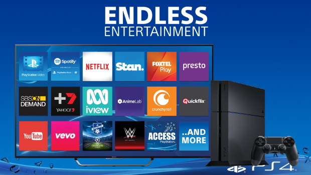 Sony claims PlayStation 4 is now the only box to offer all Australian SVOD services.