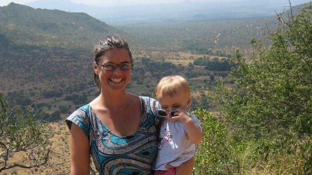 Kath Desmyth and daughter on safari in Africa. Life has improved dramatically for the former Melbourne woman who felt ...
