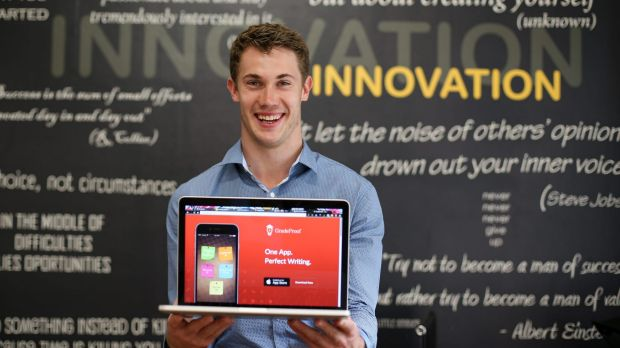 Nick Hough, founder of GradeProof, works out of the Fishburners start-up hub.