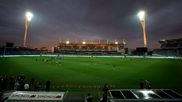 Lights on: Geelong's Simonds Stadium is bidding to host World Twenty20 games.