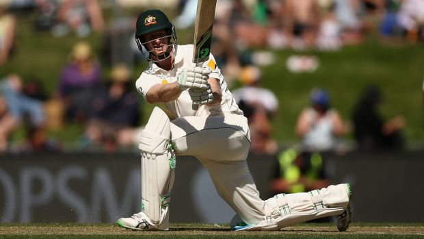 Swept away: Adam Voges dispatches a shot to the boundary.