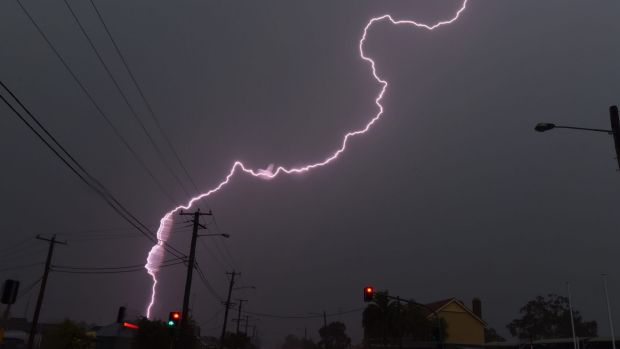 Powerful lightning hammered Cessnock in the NSW Hunter Valley on Thursday.