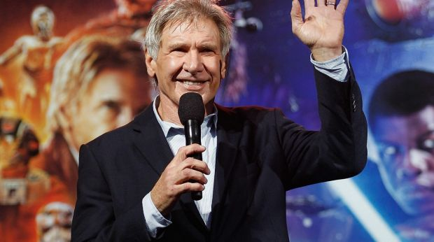 Harrison Ford attends the Star Wars: The Force Awakens fan event at Sydney Opera House.