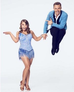 Bindi Irwin and Derek Hough as they appeared on Dancing with the Stars.