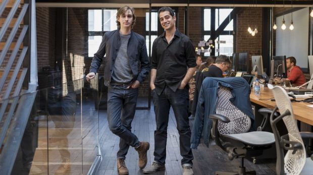 Kayvon Beykpour, chief executive and co-founder of Periscope, right, and Joe Bernstein, a co-founder.