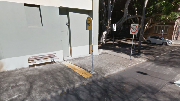 The bus stop on the corner of Salisbury Road and Church Street in Camperdown where the attack took place.