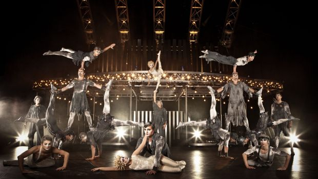 Quidam's show-stopping banquine act.