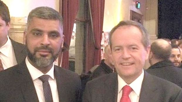 Dr Imran Syed with Labor leader Bill Shorten.
