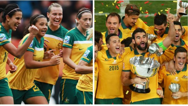 Green and gold shining: The Matildas and Socceroos enjoyed great success in 2015.