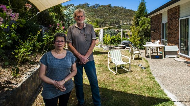 Richard Larkey and his wife Ana have lived in Fadden for 22 years but are disgusted with the regular putrid odours which ...