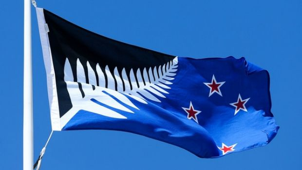 This design incorporating a silver fern with the Southern Cross has been chosen by referendum in New Zealand, which is ...