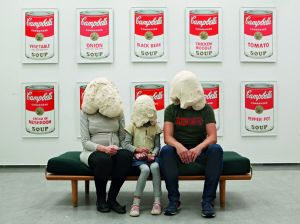 Curator Majbritt Loland and Family, Randers Art Museum, Randers, Denmark, 2014. From Dough Portraits