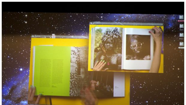 Screen grab of a video that plays during The Biography of Things.