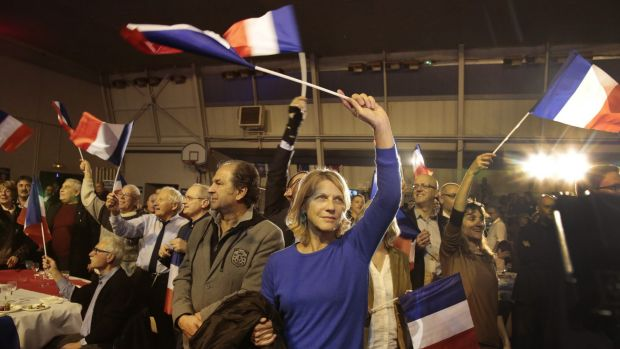 Supporters of Marion Marechal Le Pen, vice-president of the National Front in Avignon last weekend.