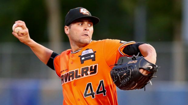 Brian Grening took out the Canberra Cavalry's pitcher of the season award.