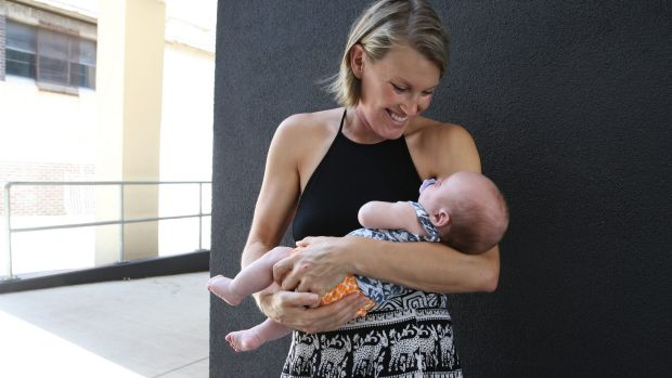 Olivia O'Leary with her baby Axel. Olivia was diagnosed with a rare cancer while pregnant with Axel.