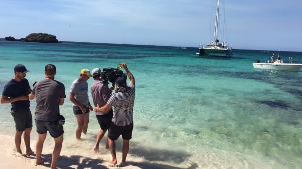 Video being shot at Rottnest Island in Western Australia for Tourism Australia's new aquatic and coastal marketing campaign.