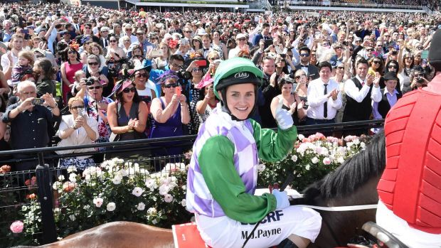 Leading the way for women jockeys: Melbourne Cup winner Michelle Payne.