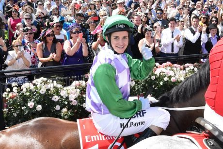 The push is on to remove 'Ms' from the form guide. Michelle Payne celebrates last year's Melbourne Cup, the first woman ...