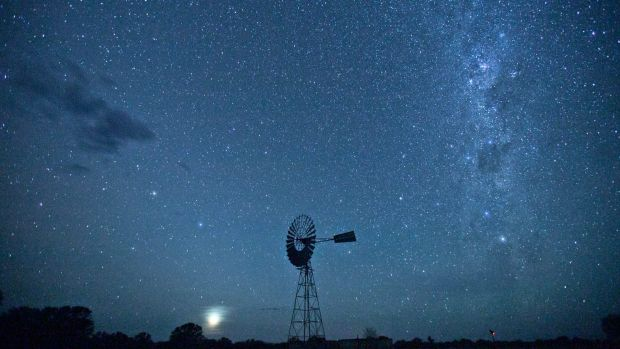 """Hard-core Ooh-ahhs"": The Milky Way makes its way over the Barkly Tablelands at Newcastle Waters Station."