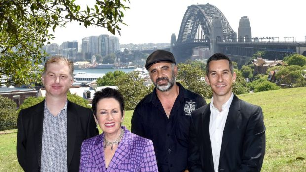 Some of the team behind Sydney's New Year's Eve celebrations; City of Sydney's Aneurin Coffey, Cr Moore, fireworks ...