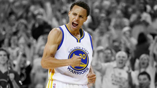 Lighting up the league: NBA MVP Steph Curry.